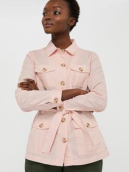 Monsoon Monsoon Sasha Organic Cotton Linen Jacket - Pink Picture