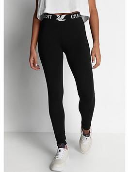 Lyle & Scott Lyle & Scott Leggings - Black Picture