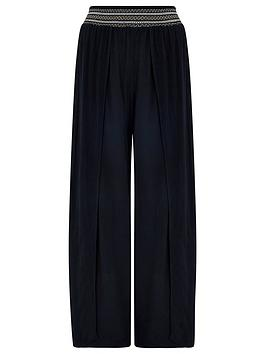 Accessorize Accessorize Smocked Beach Trousers - Black Picture