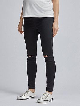 Dorothy Perkins Dorothy Perkins Maternity Alex Over Bump Jeans - Black Picture