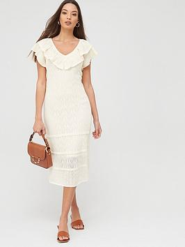 River Island River Island River Island Crochet Frill Maxi Dress-Cream Picture