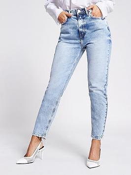 RI Petite Ri Petite High Waist Slim Leg Jean - Light Blue Picture