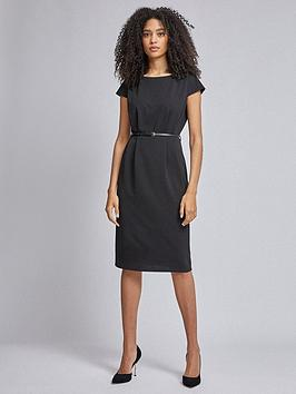 Dorothy Perkins Dorothy Perkins Belted Pencil Dress - Black Picture