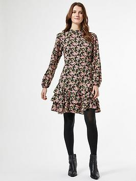 Dorothy Perkins Dorothy Perkins Dorothy Perkins Floral Ruffle Skirt Fit  ... Picture