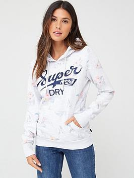 Superdry Superdry Super Tropical Hoodie - Ice Marl Picture