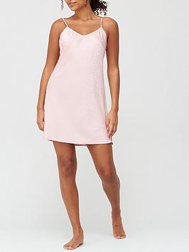 satin-jacquard-chemise-pink