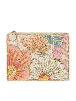 Accessorize Accessorize Jasmine Embellished Pouch - Multi Picture
