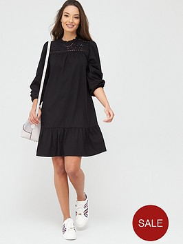 river-island-broderie-anglaise-mix-mini-smock-dress-black