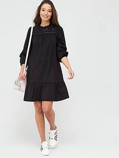 river-island-river-island-broidery-mix-mini-smock-dress-black
