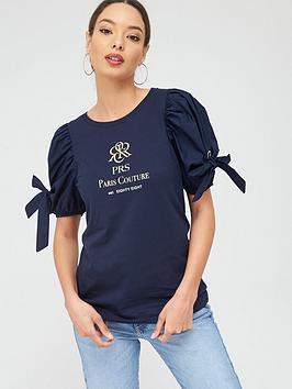 river-island-poplin-tie-sleeve-paris-t-shirtnbsp--navy