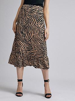 Dorothy Perkins Dorothy Perkins Zebra Jersey Midi Skirt &Ndash; Multi Picture