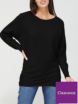 v-by-very-wide-neck-fine-knit-top-black