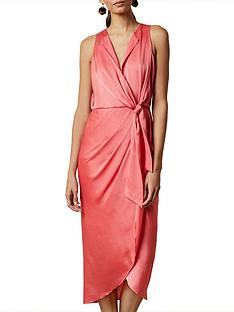 ted-baker-poshan-keyhole-detail-midinbspdress-pink