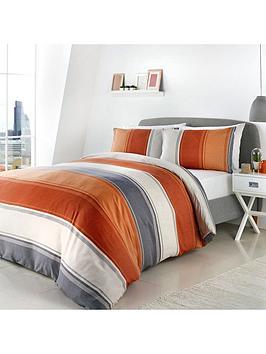 Fusion Fusion Betley Duvet Cover Set In Orange Picture