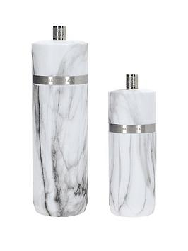 Masterclass Masterclass Salt And Pepper Mill Set &Ndash; Marble Picture