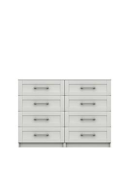 Very Regal Ready Assembled 4 + 4 Drawer Chest Picture