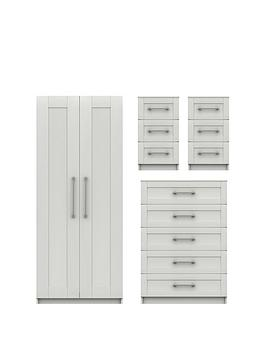 Very Regal Ready Assembled Package - 2 Door Wardrobe, 5 Drawer Chest And 2  ... Picture