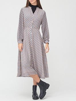 v-by-very-georgette-button-midi-dress-geo-print