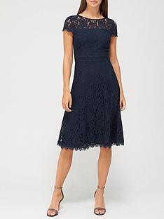 v-by-very-full-skirt-lace-midi-dress-navy