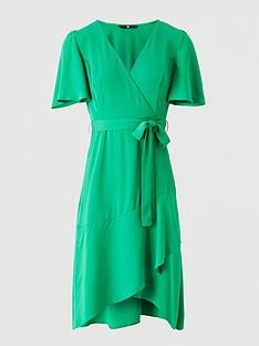v-by-very-serena-ruffle-wrap-midi-dress-green
