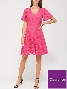 v-by-very-v-neck-lace-skater-dress-pink
