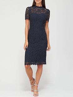 v-by-very-high-neck-lace-pencil-dress-navy