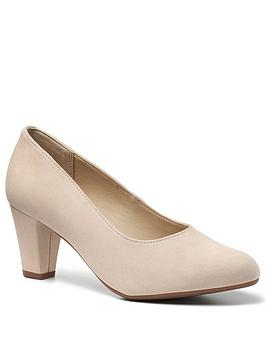 Hotter Hotter Joanna Suede Court Shoes - Nude Picture