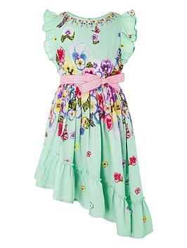 Monsoon Monsoon Girls Pansy Dress - Green Picture