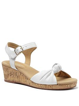 Hotter Hotter Palmas Leather Wedge Heeled Sandals - White Picture