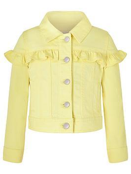 Monsoon Monsoon Girls Layla Denim Jacket - Lemon Picture