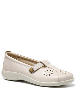 Hotter Hotter Nirvana Ladies Wide Fit T-Bar Shoes - Beige Picture