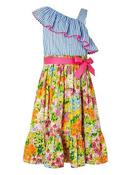 Monsoon Monsoon Girls Mabel 2-In-1 Maxi Dress - Blue Picture
