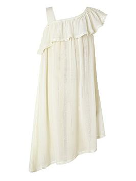 Monsoon Monsoon Girls Willabelle Asymetric Dress - White Picture