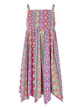 Monsoon Monsoon Girls S.E.W. Xena Hanky Hem Maxi Dress - Pink Picture