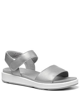 Hotter Hotter Play Wide Fit Ankle Strap Sandals - Platinnum Picture