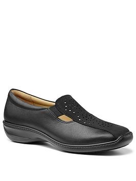 Hotter Hotter Calypso Slip On Flat Shoes - Black Picture