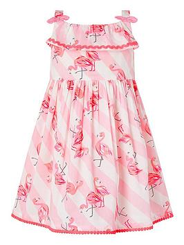 Monsoon Monsoon Baby Girls S.E.W. Organic Francine Dress - Pink Picture
