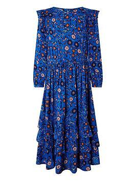 Monsoon Monsoon Girls S.E.W. Willow Mini Me Dress - Blue Picture