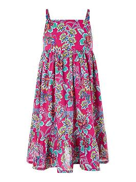 Monsoon Monsoon Girls S.E.W. Karly Dress - Pink Picture