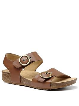 Hotter Hotter Tourist Wide Fit Footbed Sandals - Dark Tan Picture