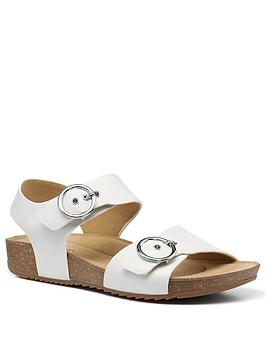 Hotter Hotter Tourist Buckle Footbed Sandals - White Picture