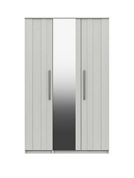 Very Taylor Part Assembled 3 Door Mirrored Wardrobe Picture