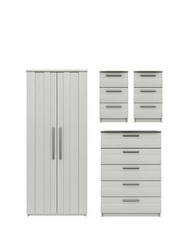 Very Taylor Ready Assembled 4 Piece Package - 2 Door Wardrobe, 5 Drawer  ... Picture