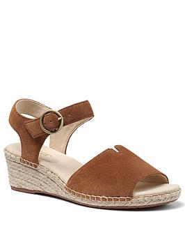 Hotter Hotter Fiji Wedge Ankle Strap Sandals - Dark Tan Picture