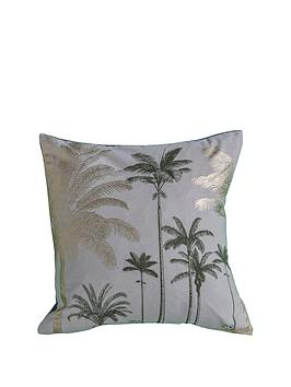 Gallery Gallery Palm Trees Metallic Cushion - Grey Picture