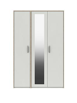 Very  Brianne Part Assembled 3 Door Mirrored Wardrobe