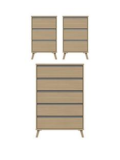 miller-3-piece-ready-assembled-package-5-drawer-chest-and-2-bedside-chests