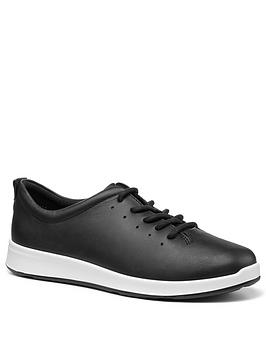 Hotter Hotter Gentle Lace Up Casual Shoes - Blacl Picture