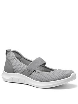 Hotter Hotter Flow Active Mary Jane Shoes - Grey Picture