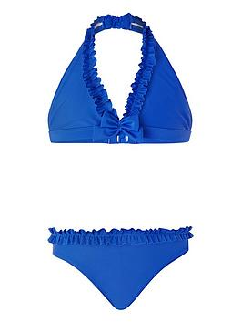 Monsoon Monsoon Girls Rachel Ruffle Triangle Bikini - Blue Picture